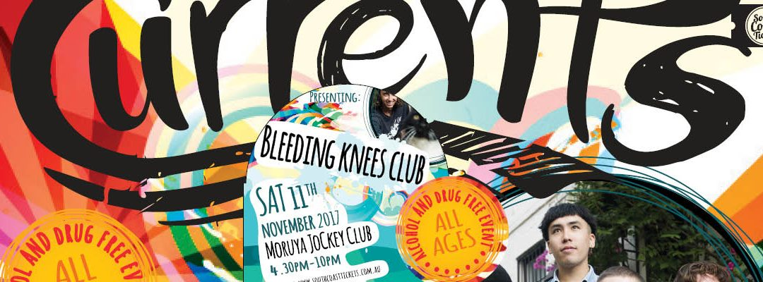Currents Music Event – presenting Bleeding Knees Club and local support bands