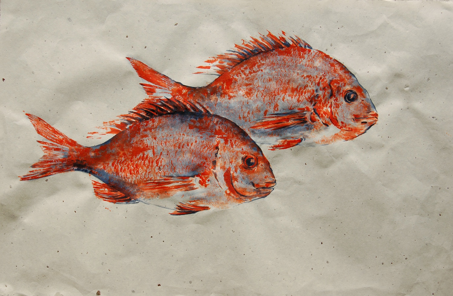 Gyotaku Fish Painting with Gillian Rhys @ Escape ArtFest