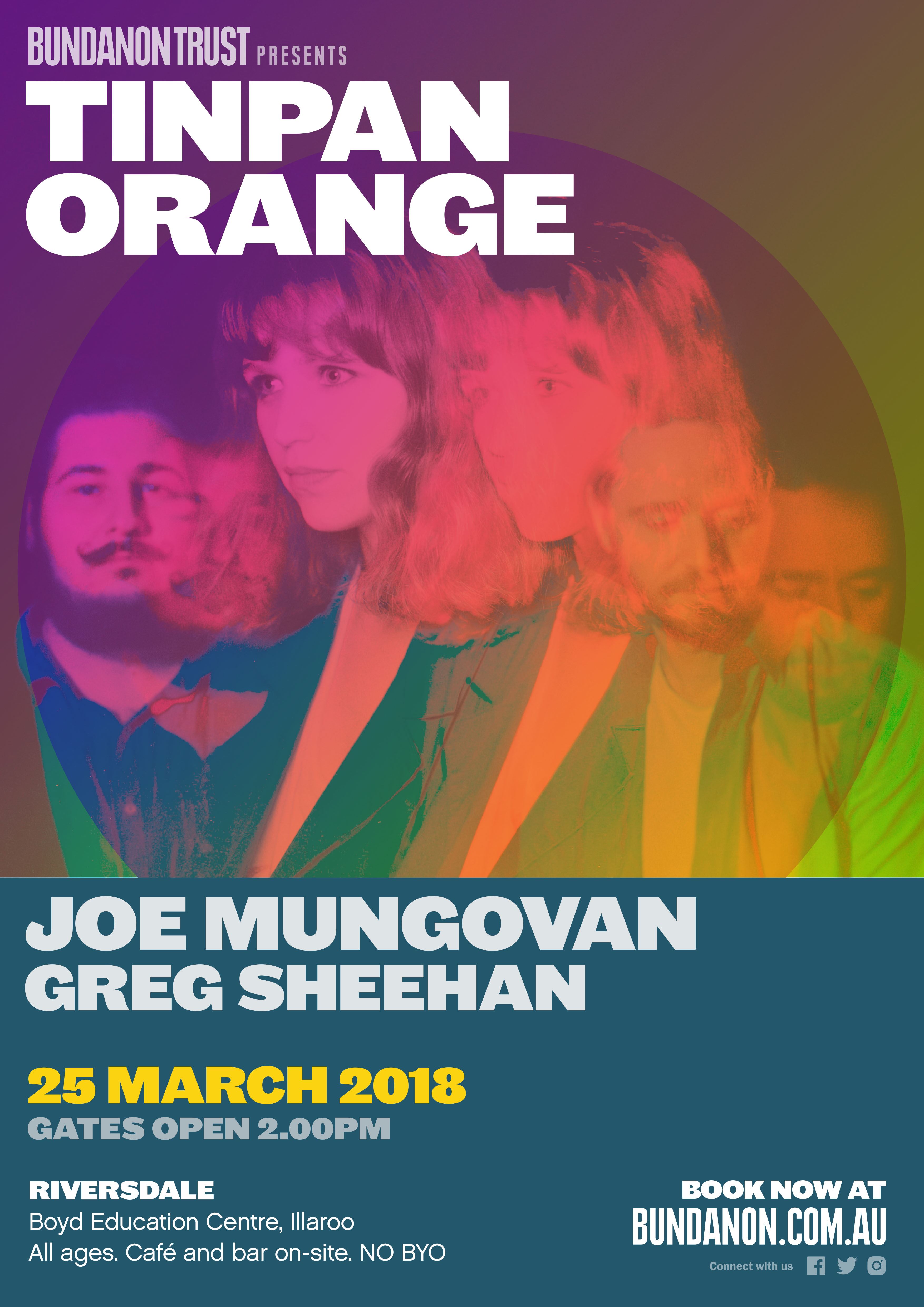 Tin Pan Orange + Joe Mungovan + Greg Sheehan @ Riversdale