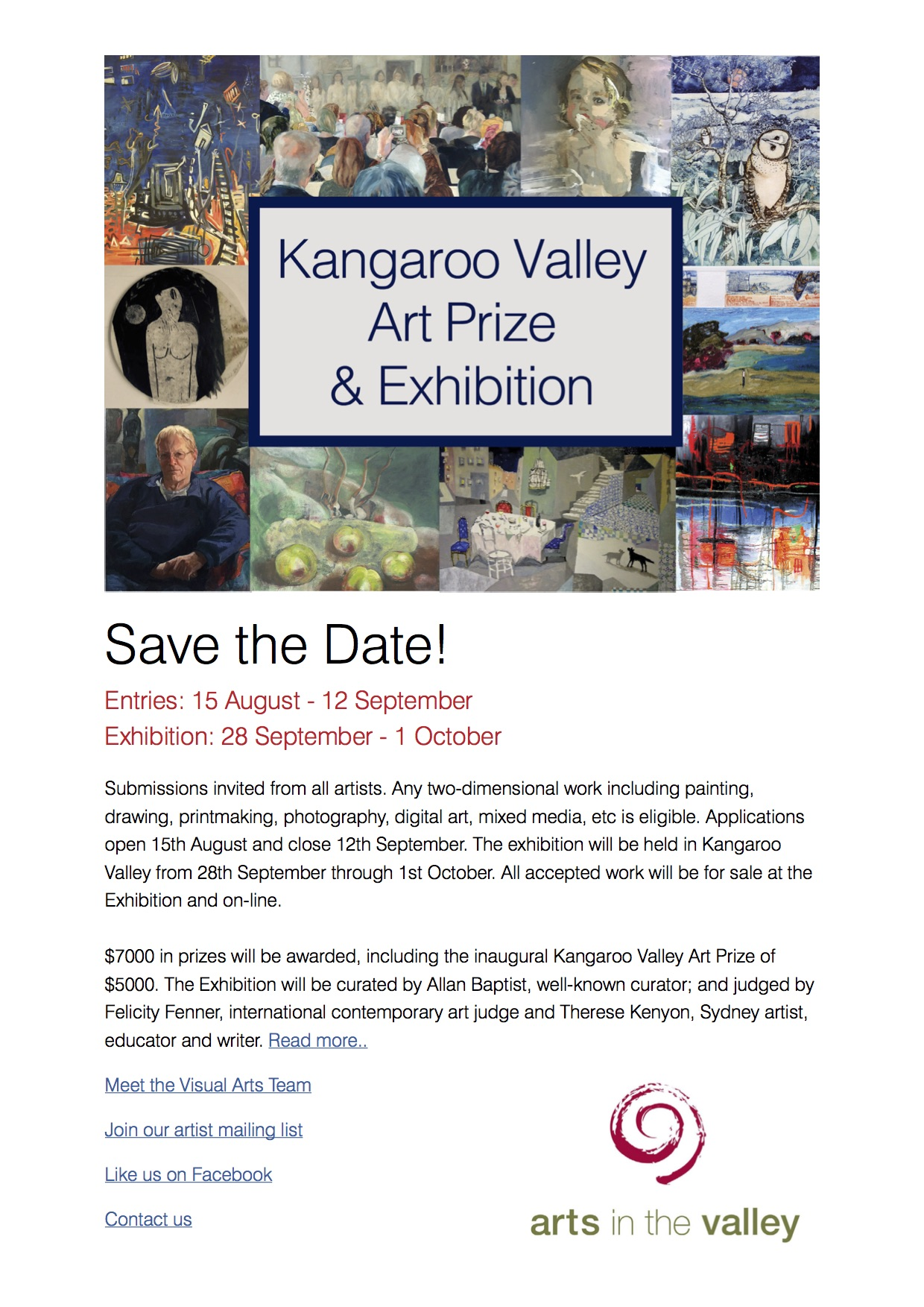 Kangaroo Valley $5000 Art Prize & 2018 Exhibition