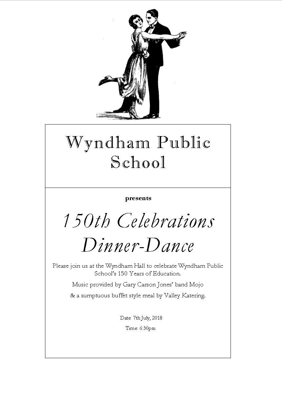 Wyndham Public School 150th Celebrations Dinner-Dance