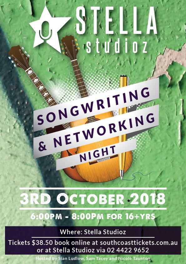 Stella Studioz- Songwriting and Networking Night (16Yrs +)